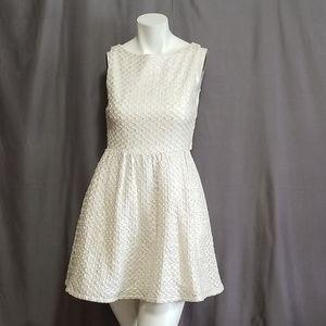 Alice+Olivia Silk Blend Open Back Dress